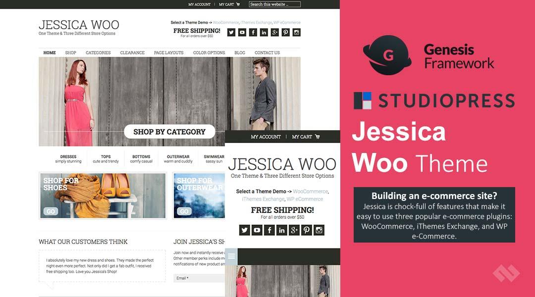 StudioPress Jessica Woo Theme Review